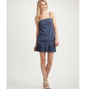 Lacoste + Malandrino navy tube top tennis dress